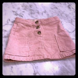 Zara light pink corduroy mini skirt, size 5
